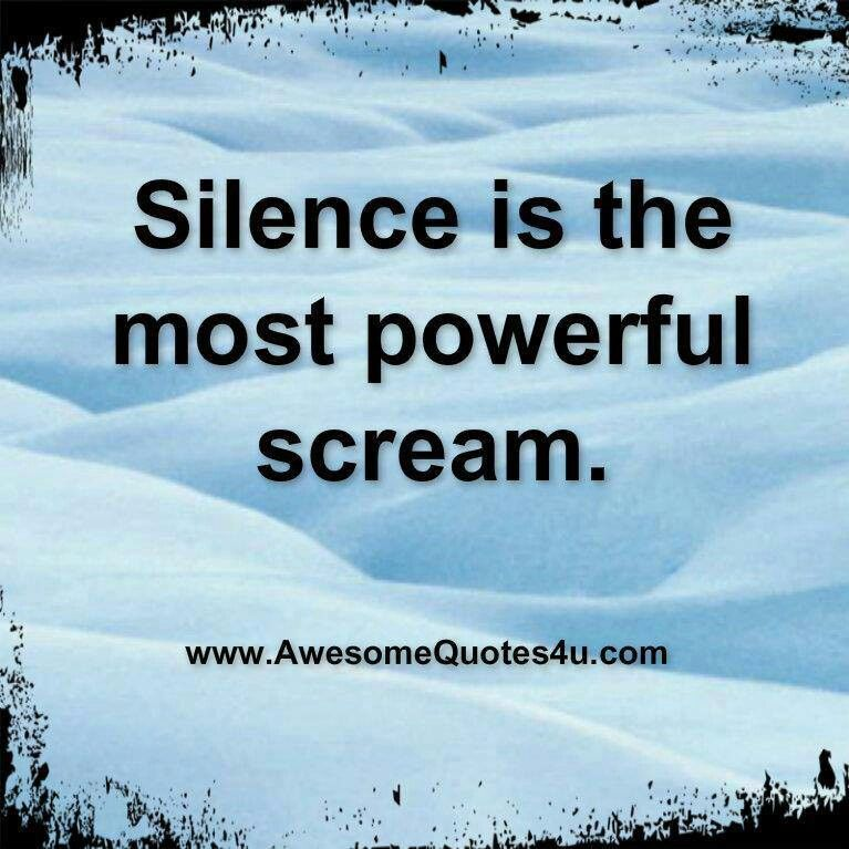 Power Of Silence Quotes. QuotesGram