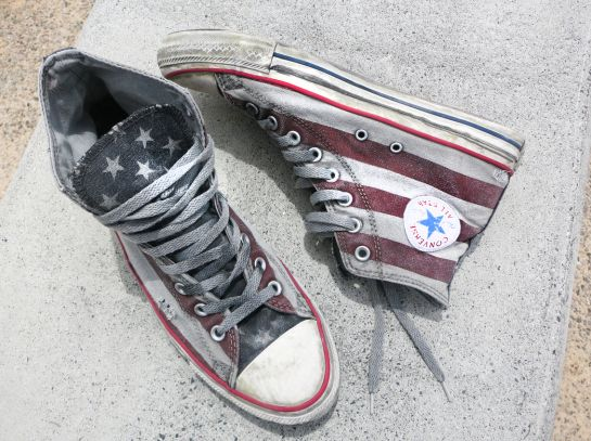 American Flag Converse Vintage Style Brand New Limited Edition Red Blue White