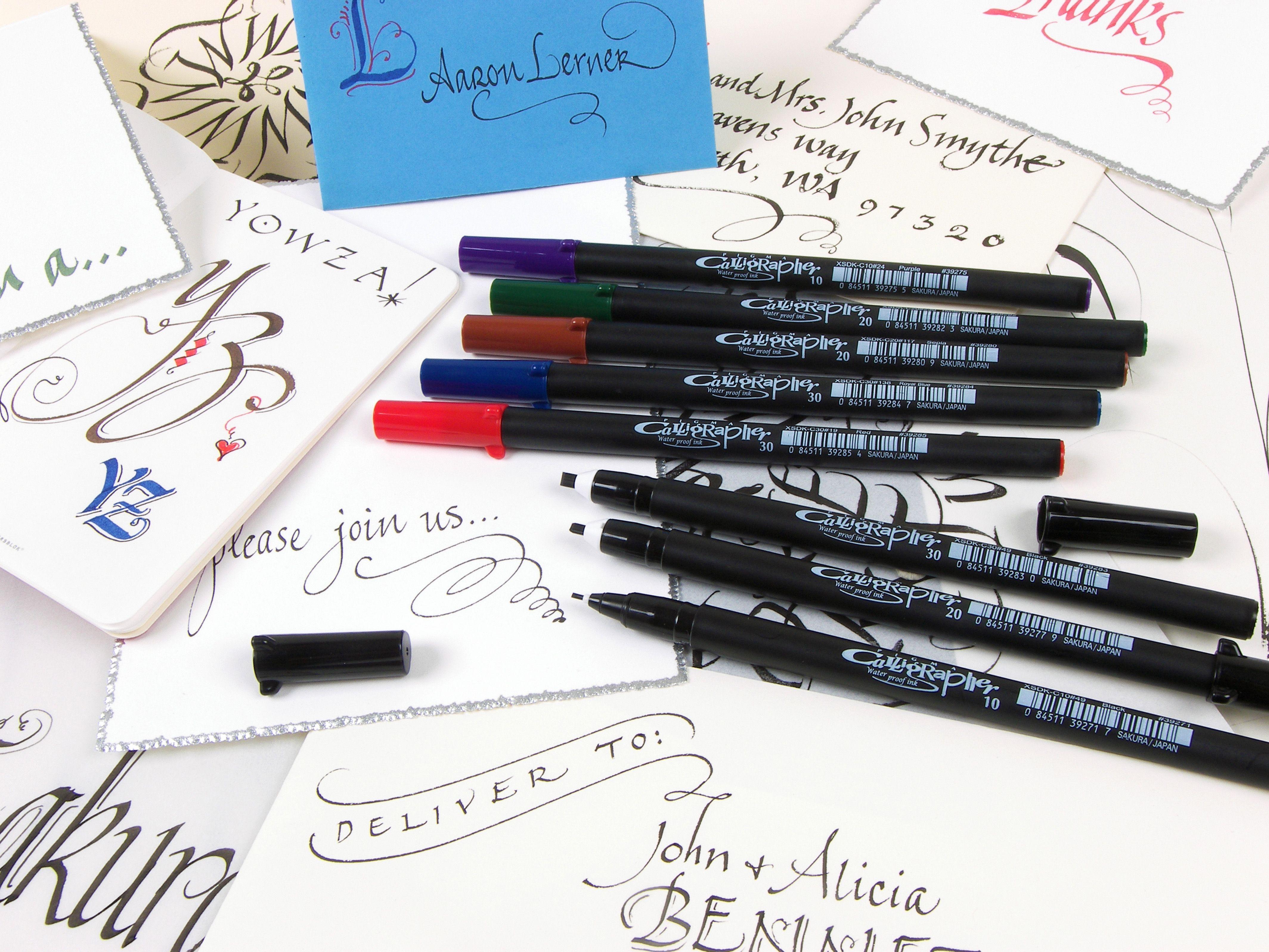 Sakura 39 S Line Of Pigma Calligrapher Calligraphy Pens