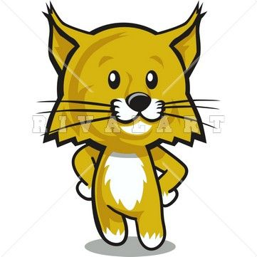 clipart image of a wildcat cub graphic wildcat clipart pinterest rh pinterest co uk wildcat clipart mascot wildcat clipart black and white