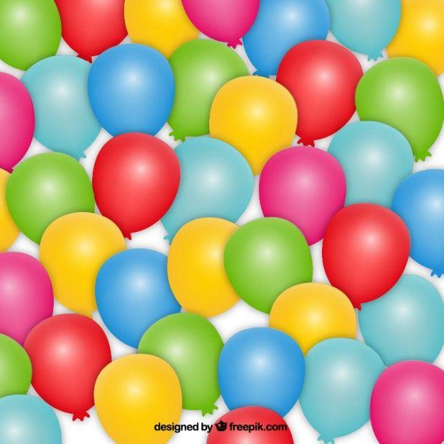 Globos vector de cumpleaños y gratis | Fondos de colores, Globos