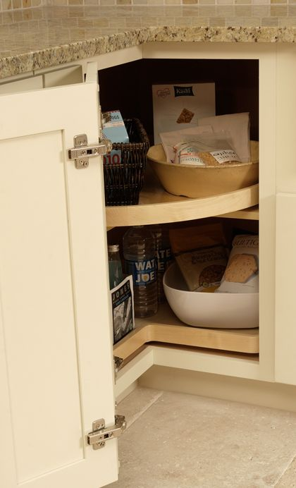 Kitchen Cabinets | Kitchen Storage Solutions | CliqStudios - Lazy susan must-have for corner cabinets | Kitchen Remodel | Pinterest | Kitchen storage ... & Kitchen Cabinets | Kitchen Storage Solutions | CliqStudios - Lazy ...