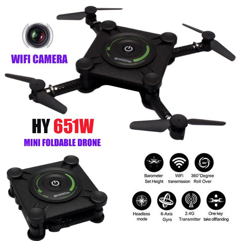 Get It With Price US 4079 HY651W Mini Drone Camera HD WIFI Quadrocopter Dron FPV