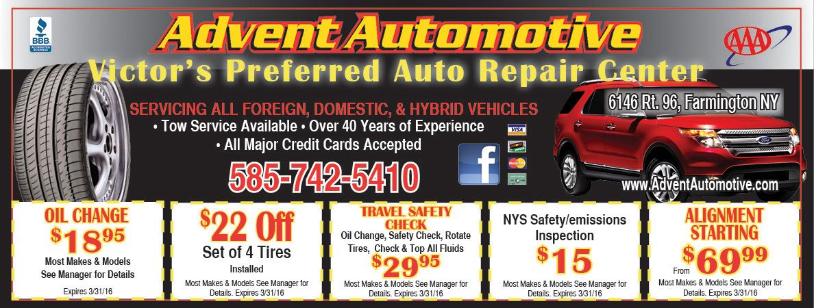 Advent Auto in Farmington/Victor, NY will help you save on