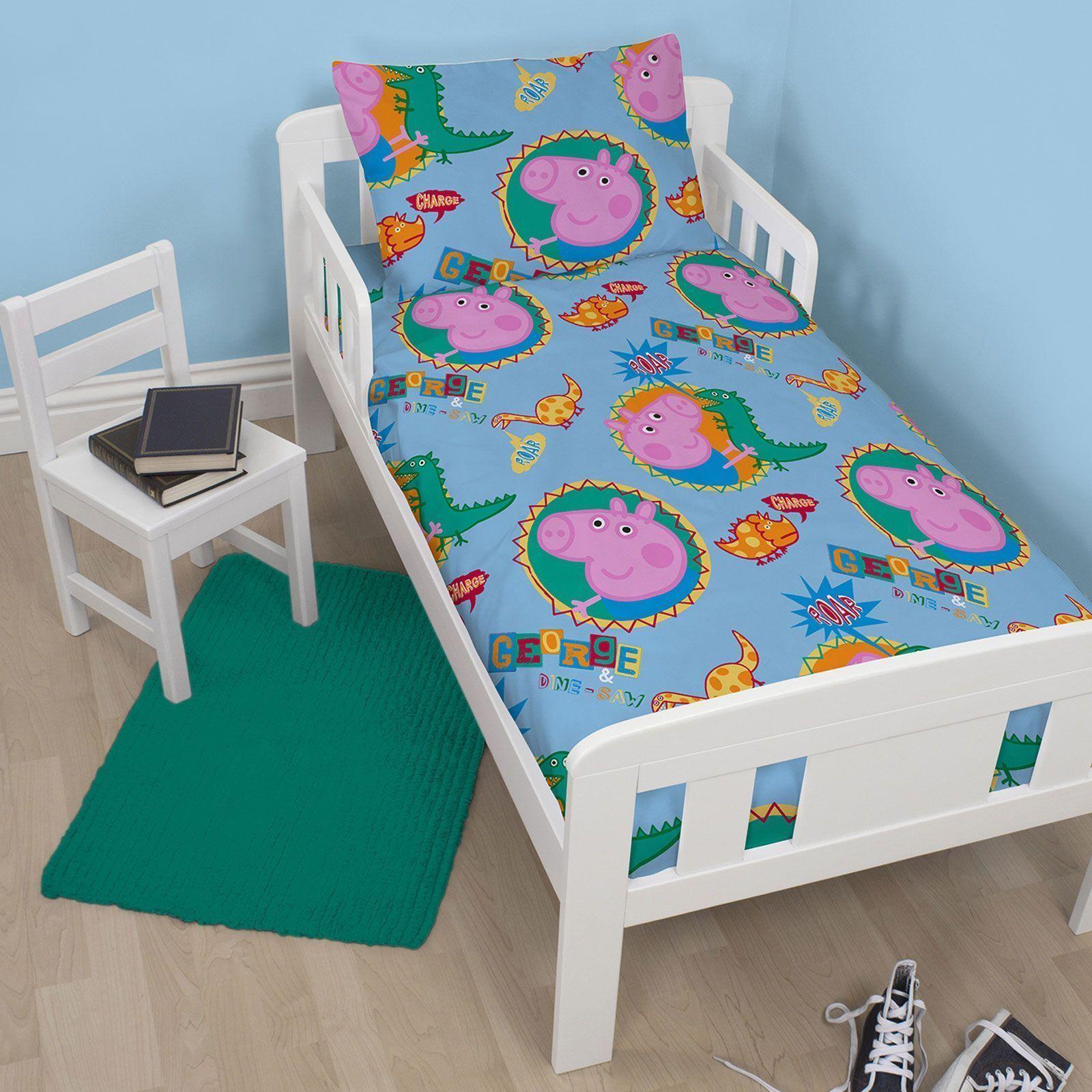 Peppa Pig George Roar Junior Toddler Duvet Cover Set