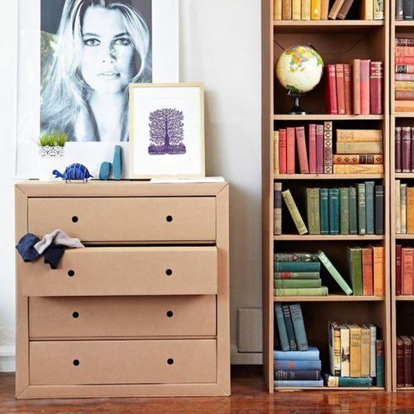 35 Eco-Friendly Cardboard Shelves Ideas For Your Furniture #cardboardshelves