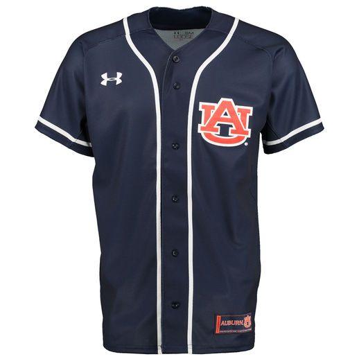 Under Armour Auburn Tigers Navy Blue Replica Baseball Jersey