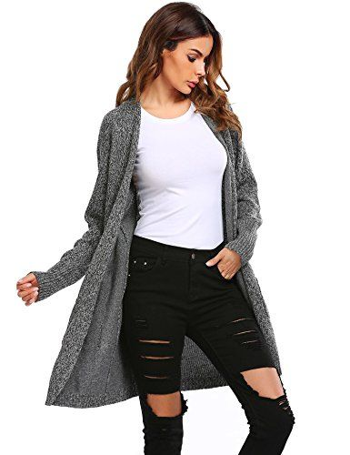2555026a3d Women s Basic Open Front Long Sleeve Warm Knit Cardigan Sweater W  Pockets  Features  Material  100% Polyester Sleeve Length  Long sleeve 6 Colors   Wine Red