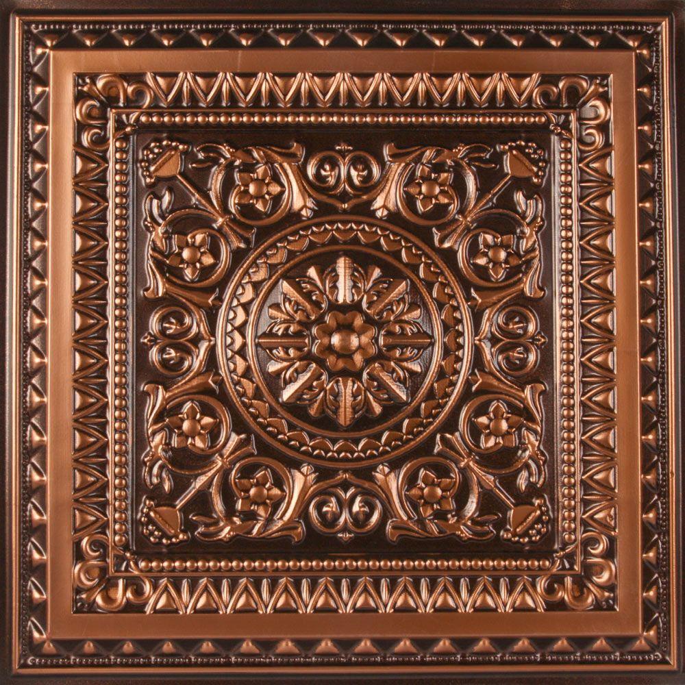 Milan Ceiling Tile Antique Copper Ceiling Tiles Faux