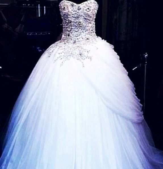 Blinged Out Wedding Dress