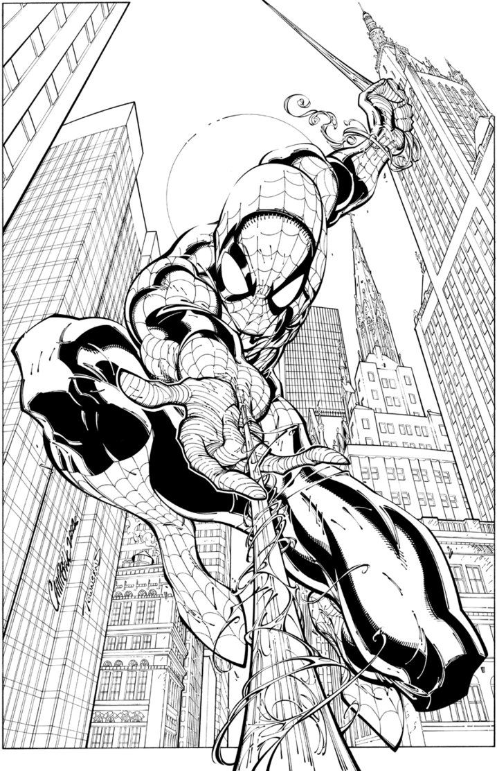 Spidey By J Scott Campbell Spiderman Coloring Spiderman Art Spiderman Drawing