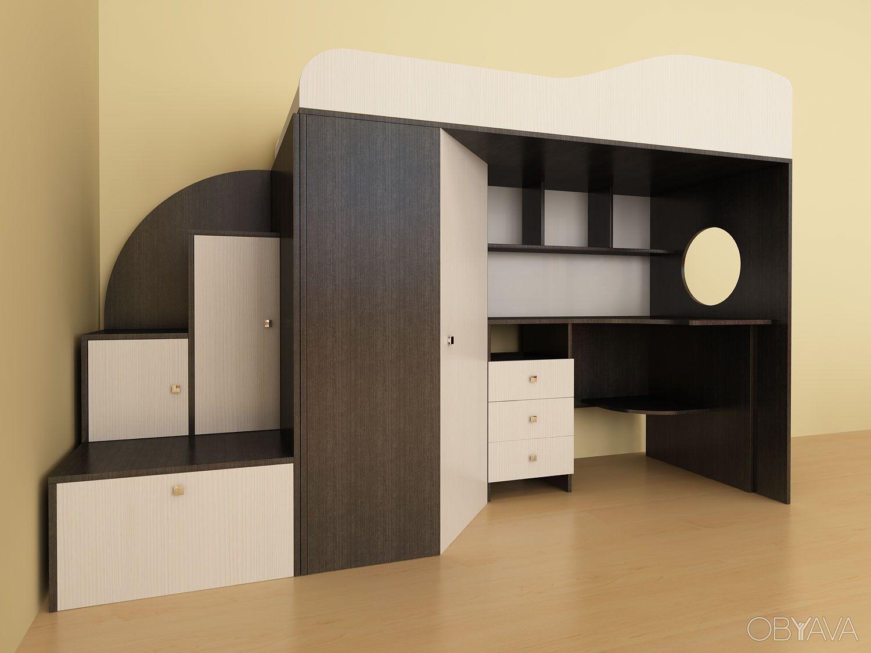 Кроватьчердак с рабочей зоной Київ Space saving beds