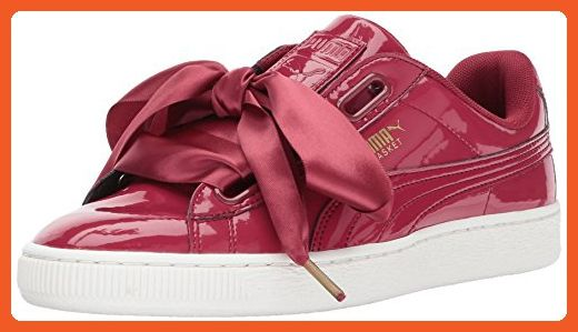 hot sale online 66440 461dd PUMA Women's Basket Heart Patent Wn, Tibetan Red-Tibetan Red ...