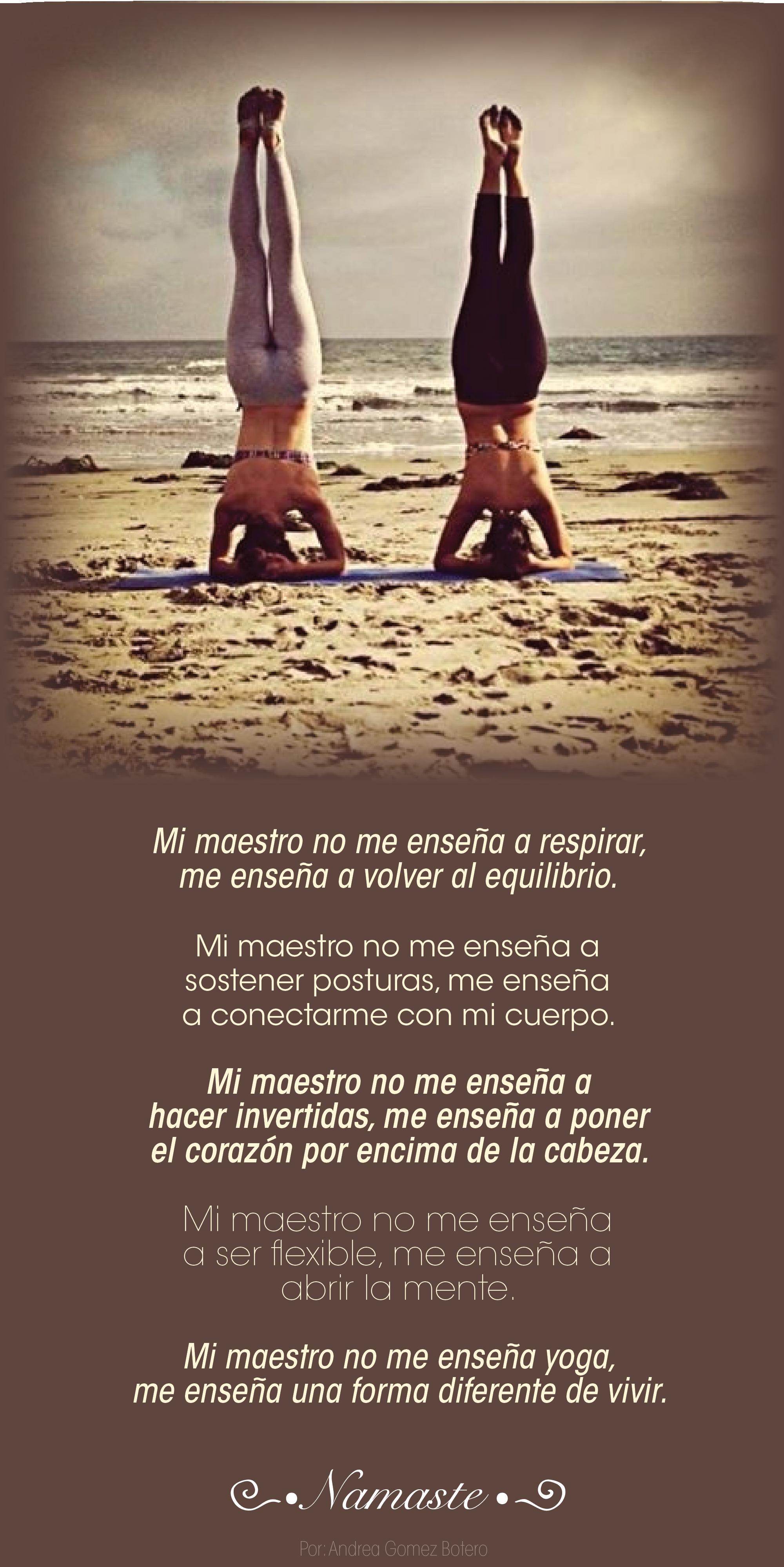 Yoga Maestro Corazón Cabeza Amor Autoestima Fuerza Yoga Outdoor Beach