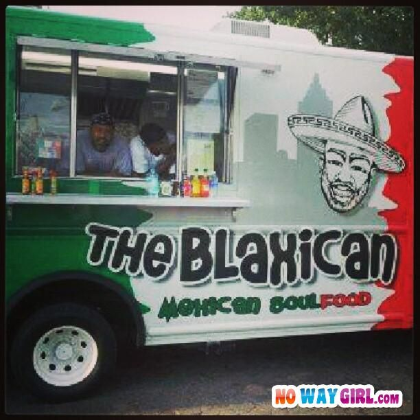 a118e988e9c567bd7a7c4f2fc05a9b59 would you eat from this taco truck? mexican soul food? nowaygirl