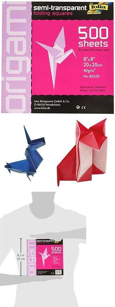 Origami 134596 Folia Semi Transparent Origami Paper 8 Inch By 8