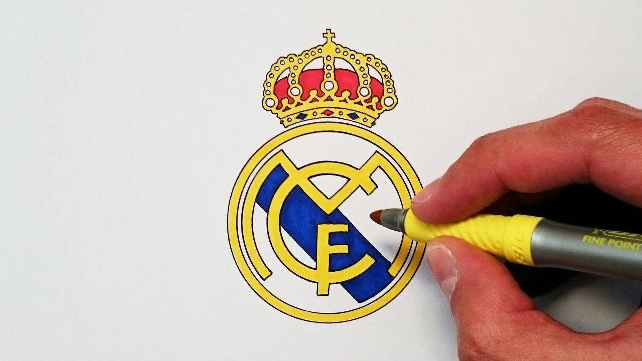 Como Dibujar El Escudo Del Real Madrid Paso A Paso Escudo Del Real Madrid Escudo Como Dibujar