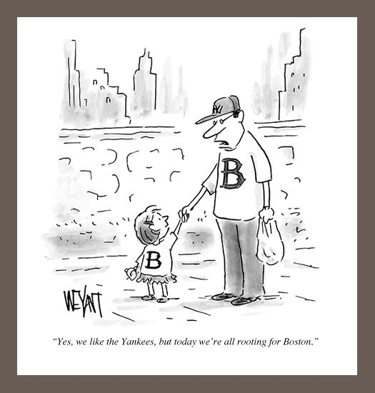 Chris Weyant S Perfect New Yorker Cartoon For Boston New Yorker Cartoons Daily Cartoon Yankees Fan