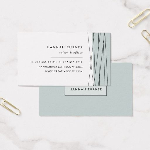 Modern geometric business cards grayed jade editor business modern geometric business cards grayed jade colourmoves