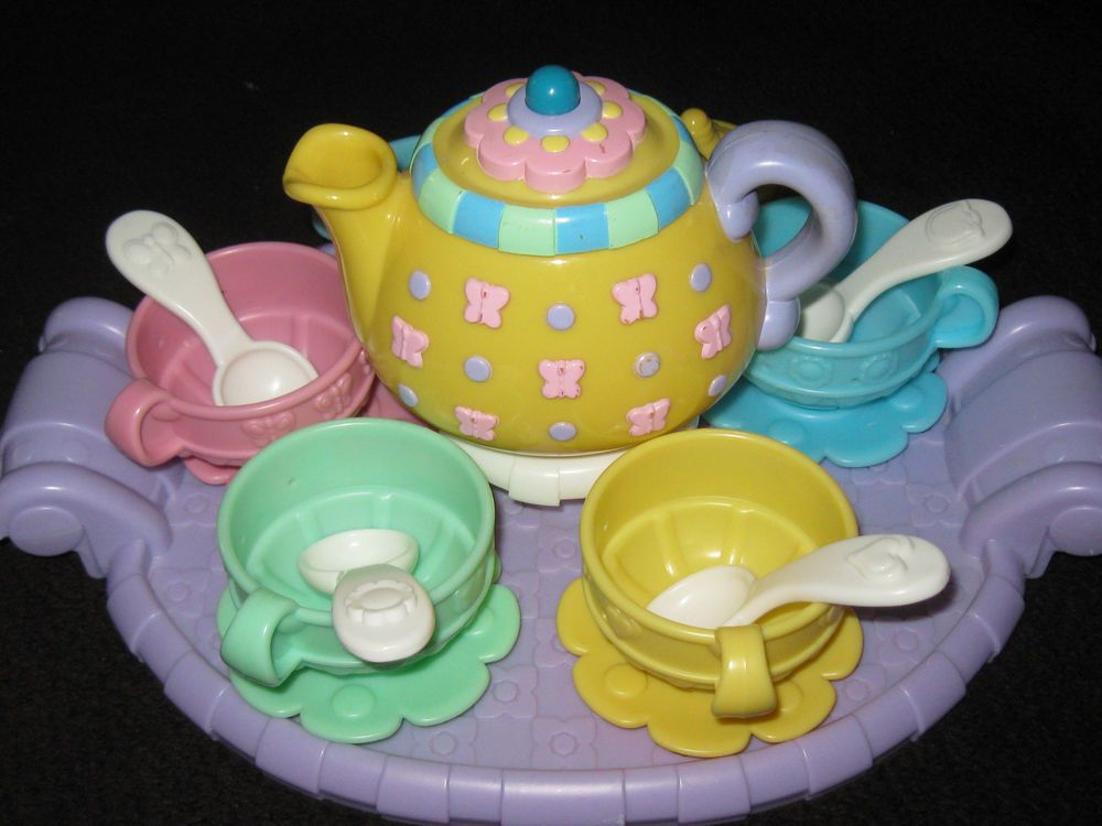 Fisher Price Musical Tea Set Pretend Play Kitchen Dishes Toy Lot Fisherprice