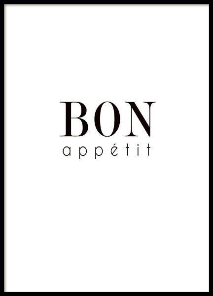Typografie-Poster für die Küche mit dem Schriftzug  - poster für die küche