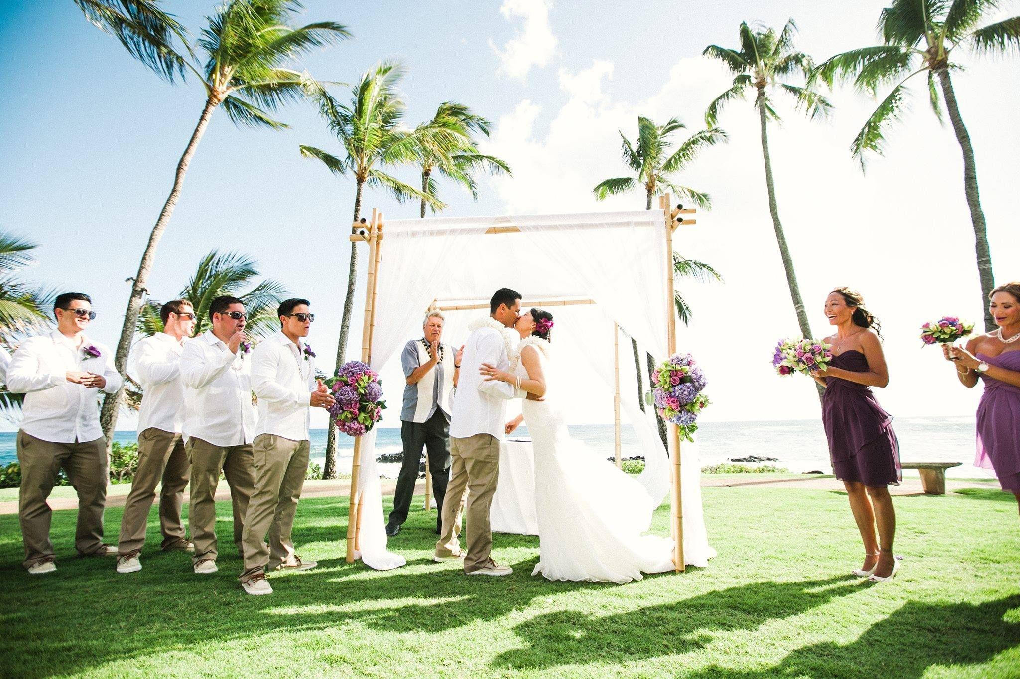 small beach wedding ceremony ideas%0A Colorful Kauai Hawaii Wedding Ceremony Beach    Venue  Sheraton Kauai  Resort   Coordination