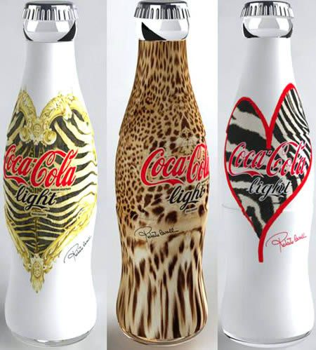 Coca-Cola Light collaborated with Roberto Cavalli in 2008 and created these gorgeous bottles