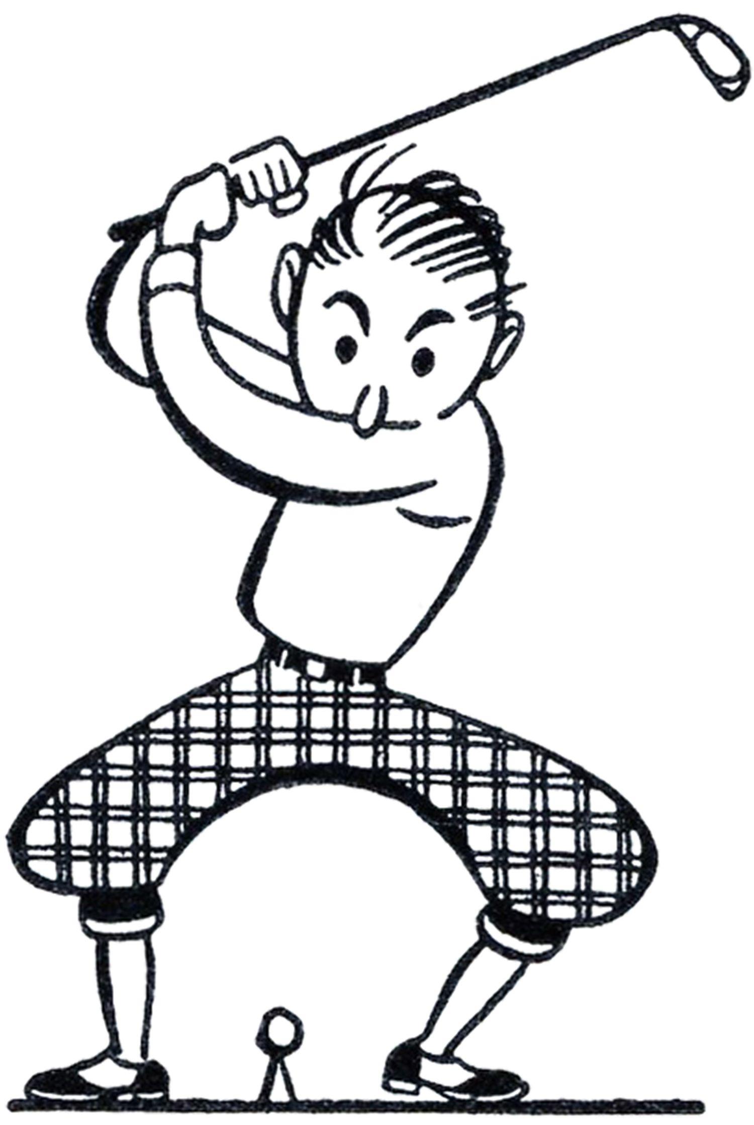 Retro Golf Clip Art Funny Pinterest Siluetas Deporte Y Negro