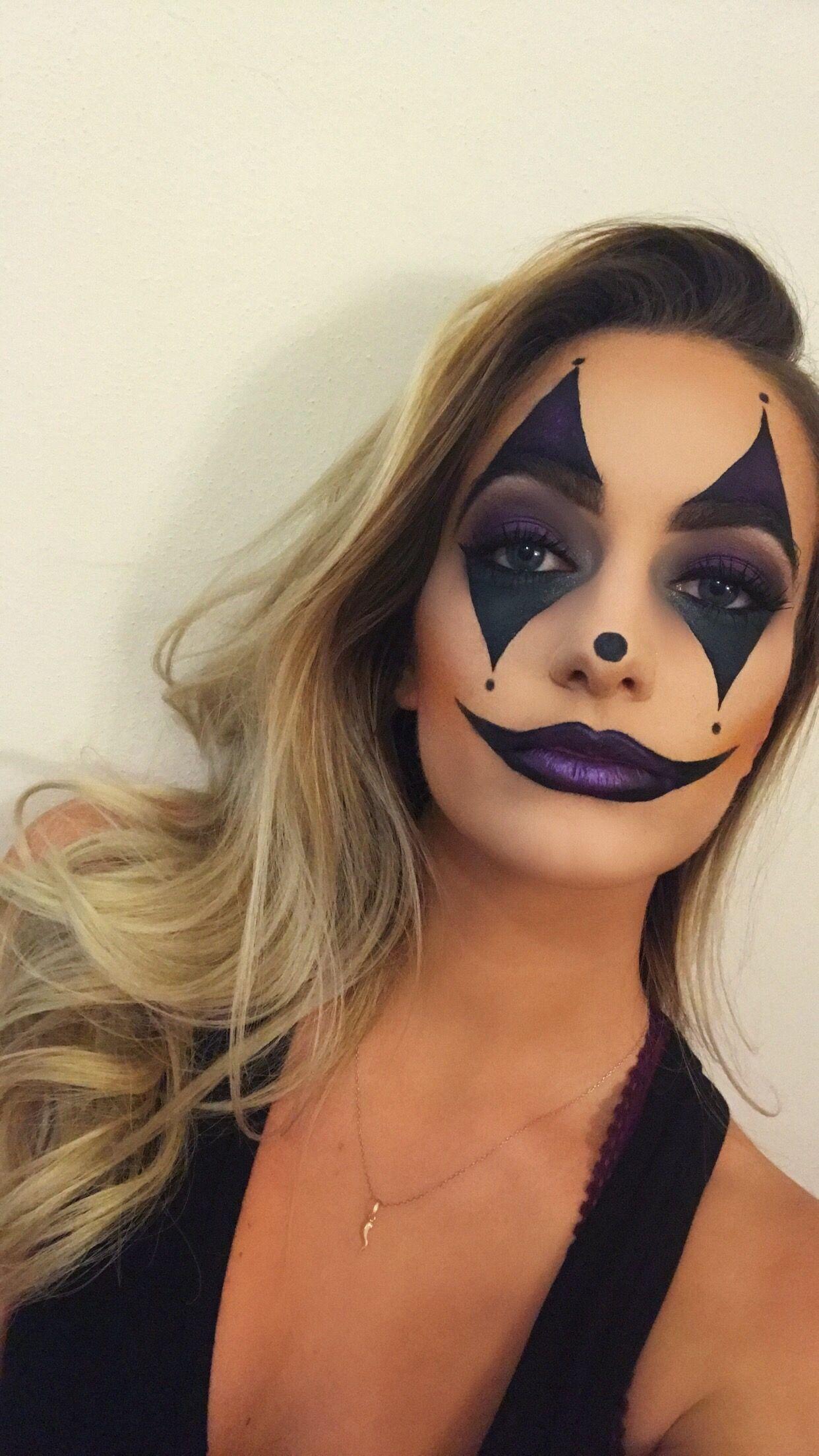 joker jester clown makeup halloween costume verkleidung. Black Bedroom Furniture Sets. Home Design Ideas
