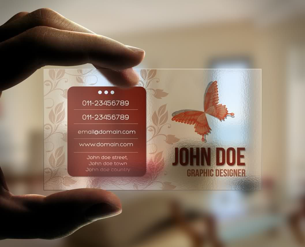 transparent business card | Brand, print,package, Scrapbook ...