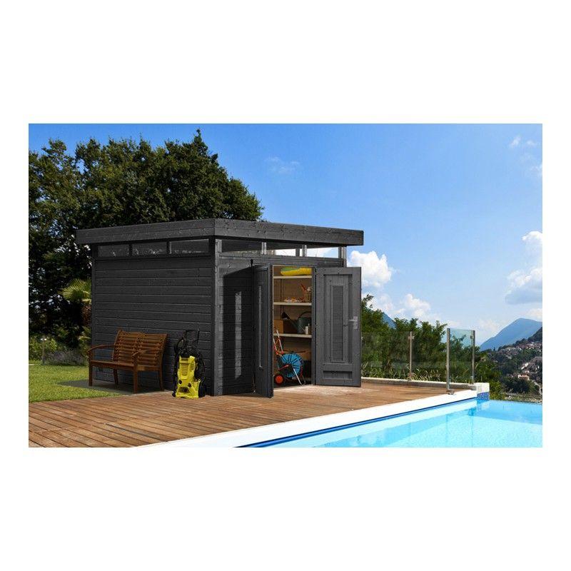 Abri toit plat 9m² PLUS + terrasse couverte latérale 9m² Gardy ...