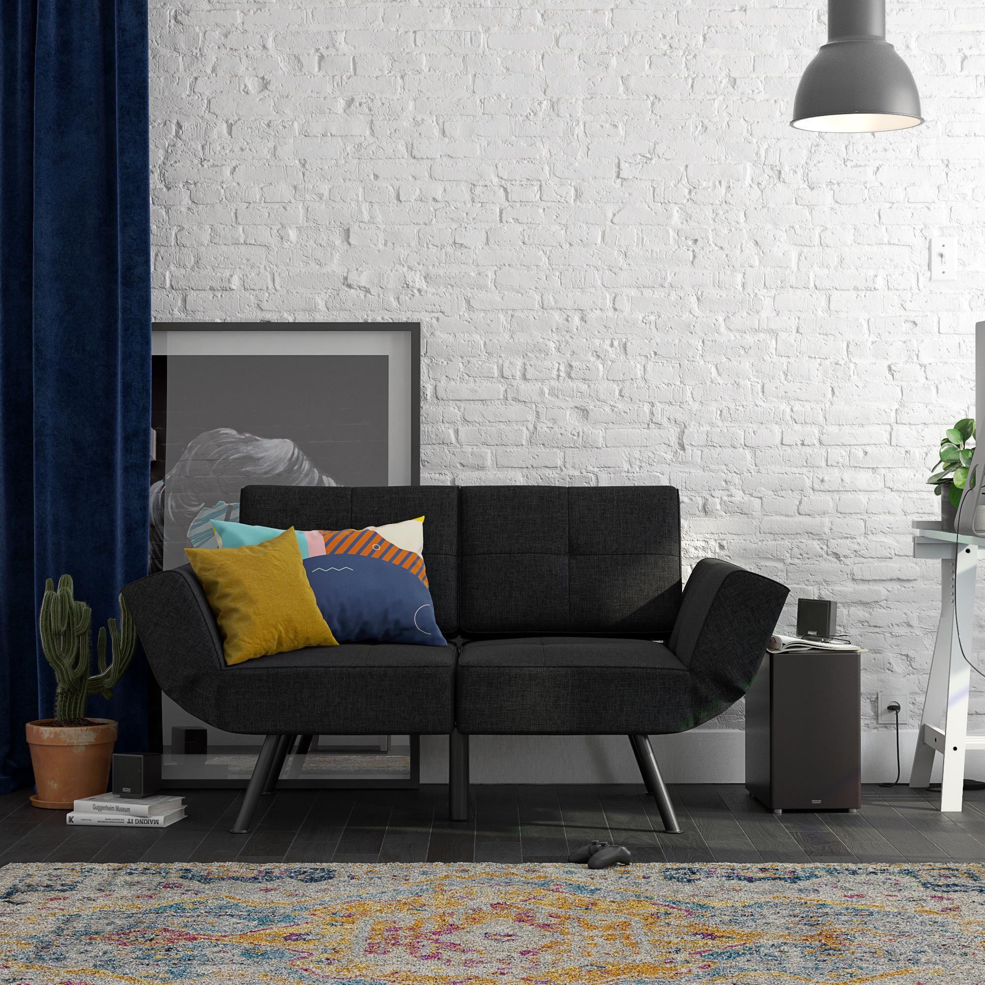 RealRooms Euro Loveseat Futon | Loveseat futon, Love seat ...