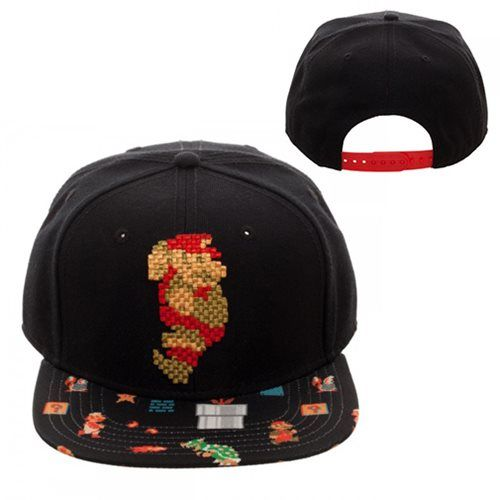 Super Mario Embroidered Scenes Youth Adjustable Snapback Hat