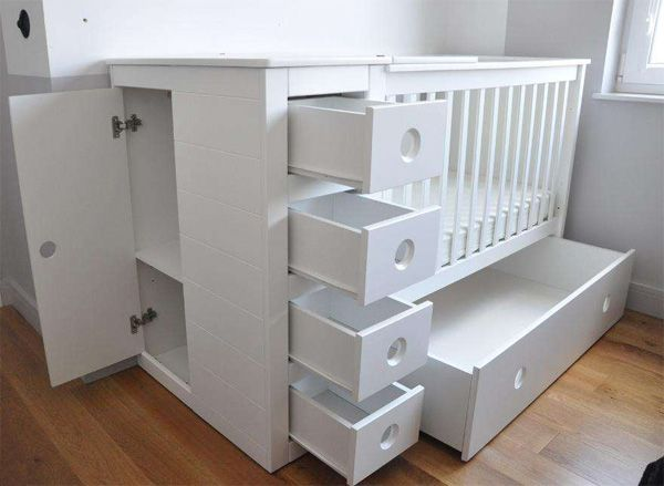 3 in 1 Cot Bed | Changing Table | Chest Of Drawers | Cot bedding ...