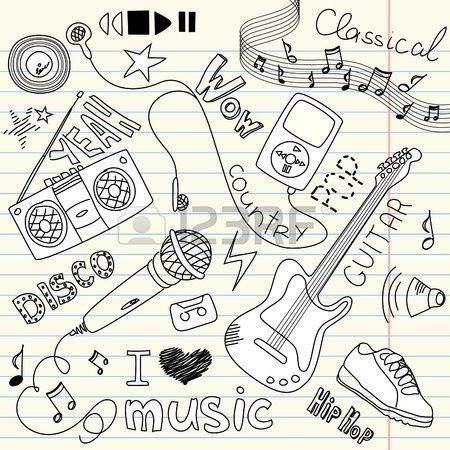 Doodles música vectorial Vectores