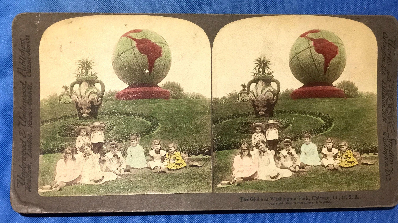 Vintage 1899 Globe At Washington Park Chicago Illinois