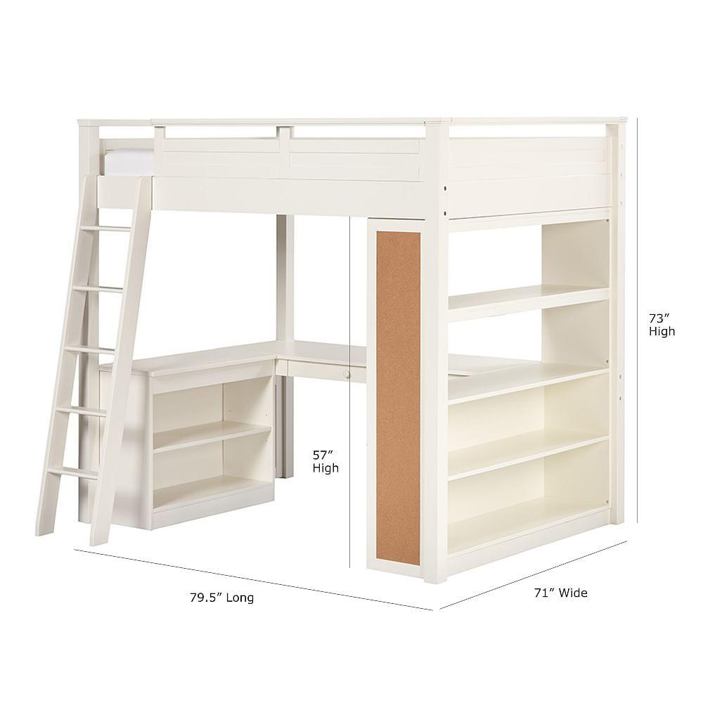 Sleep + Study Loft(R) , Full, Simply White - Furni