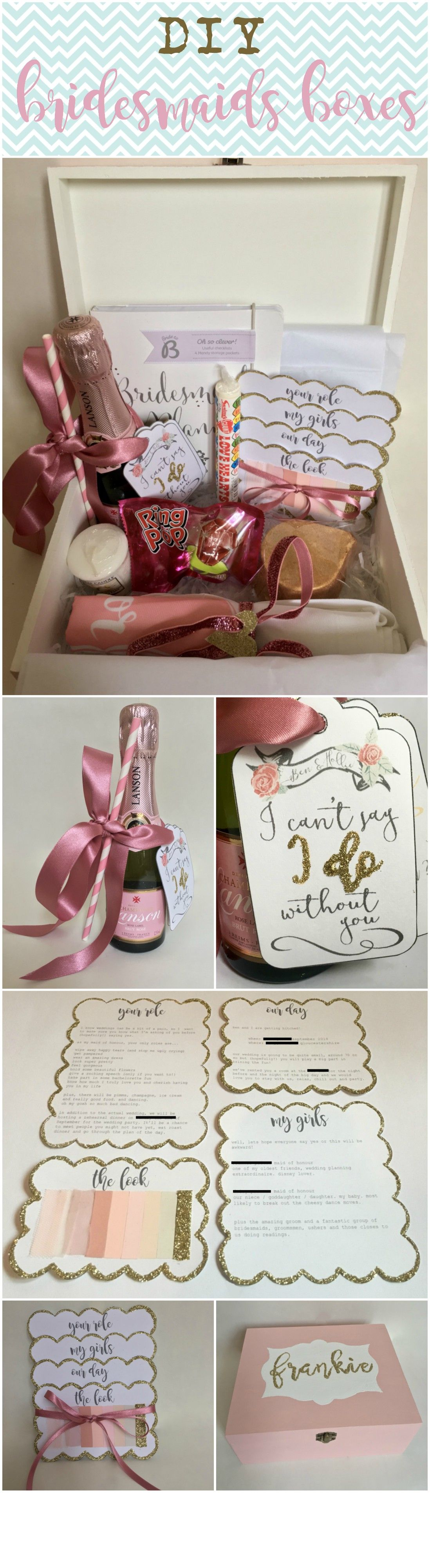 Bridesmaid Proposal Box Will You Be My Bridesmaid Maid Of Honour