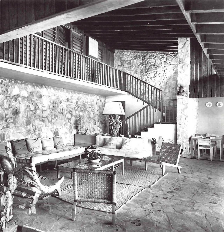 Vista Interior Casa Particular De Mario Pani En Acapulco Muebles  # Muebles Sustentables Df