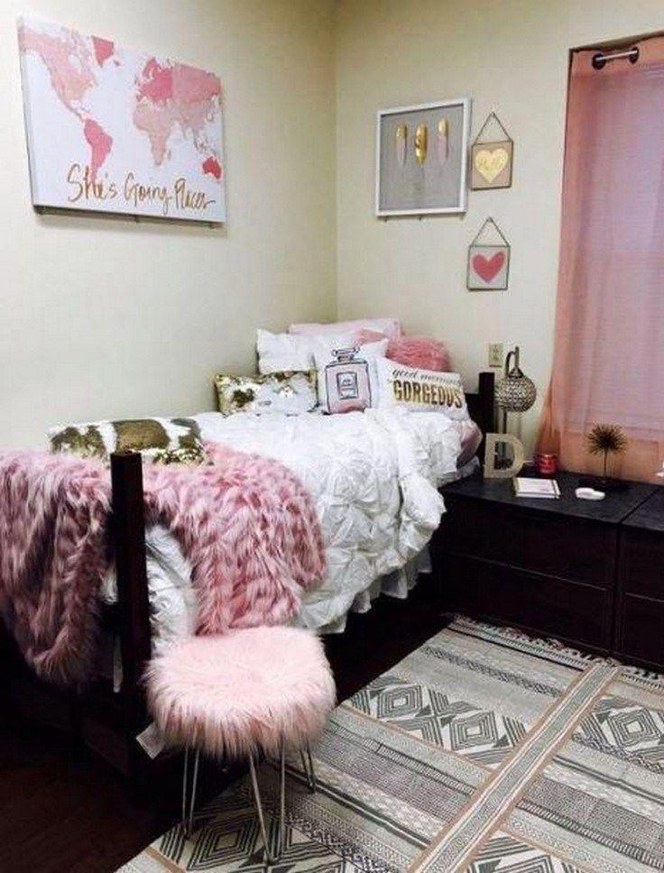 41 stylish, dorm room ideas and decor essentials for girls ...