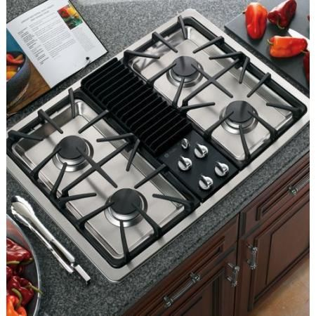 Pgp990senss Ge Profile 30 Built In Downdraft Gas Modular Cooktop Stainless Steel