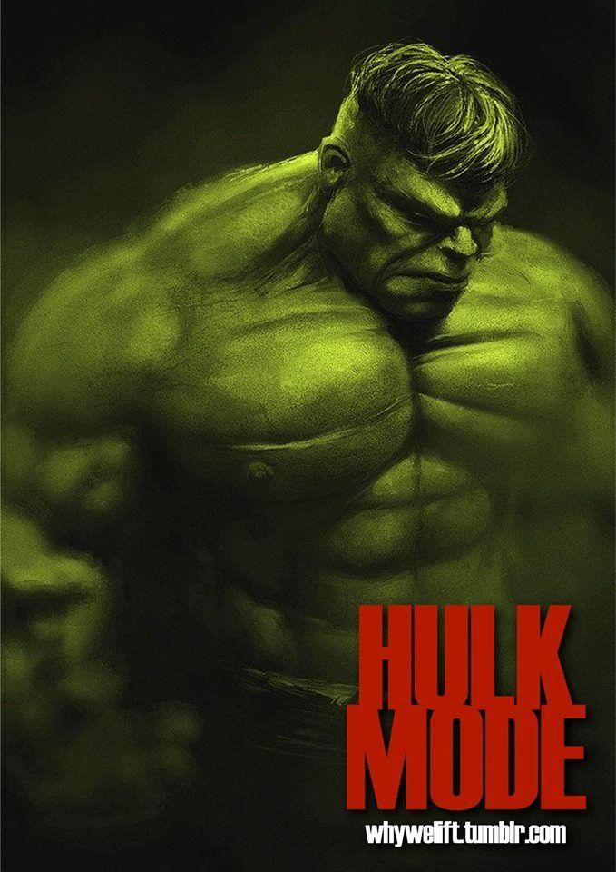 Hulk Mode Workout memes, Bodybuilding motivation