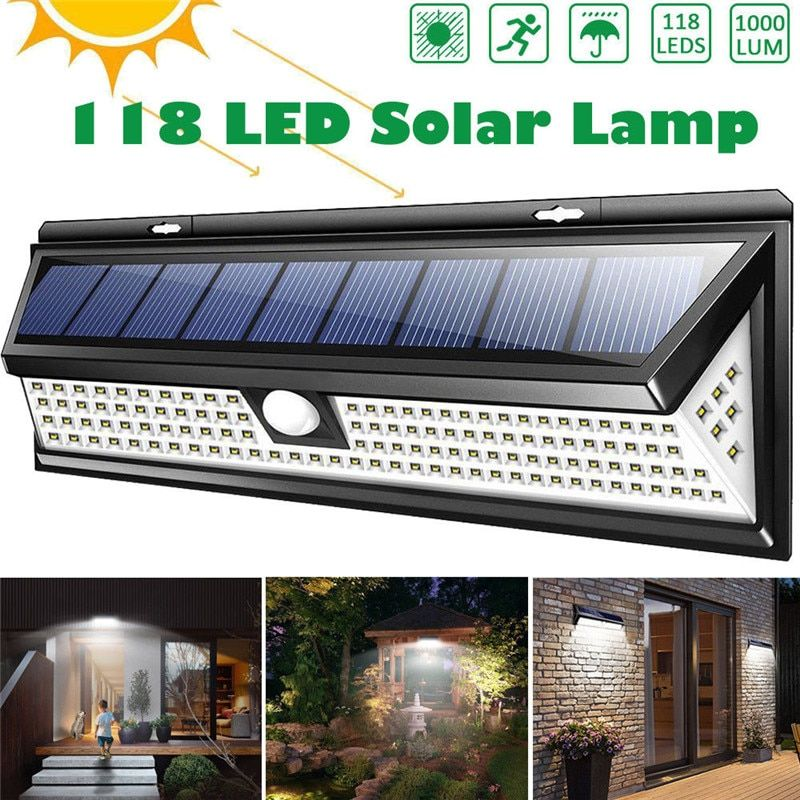 Cheap Solar Lamps Buy Directly From China Suppliers 118 Led 1000lm 3 Modes Garden Solar Led Lights Outdoor Solar Lamp With Images Solar Security Light Outdoor Solar Lamps