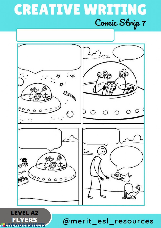 Comic Strip - Write a story: Creative writing exercise  Creative