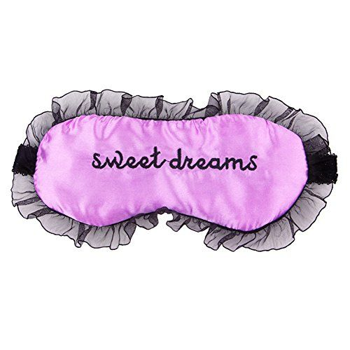 CHN'S Women Comfortable Silk Satin Word Tutu Sleep Mask Eye