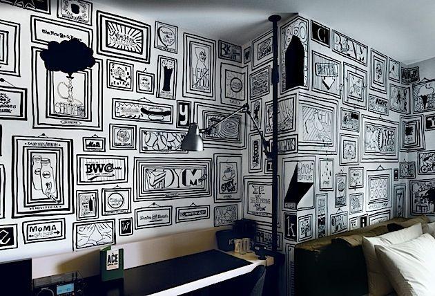 Timothy goodman 99 bilder in new yorks ace hotel art - Kreative wandbemalung ...