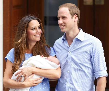The world celebrates when Prince George is born on July 22. He becomes third in line for the throne. - Max Mumby/Indigo + Getty