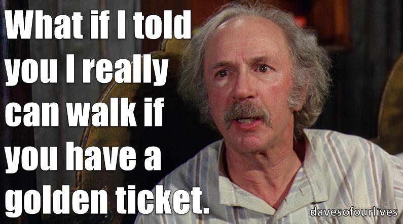 """ ive won a golden ticket ..."