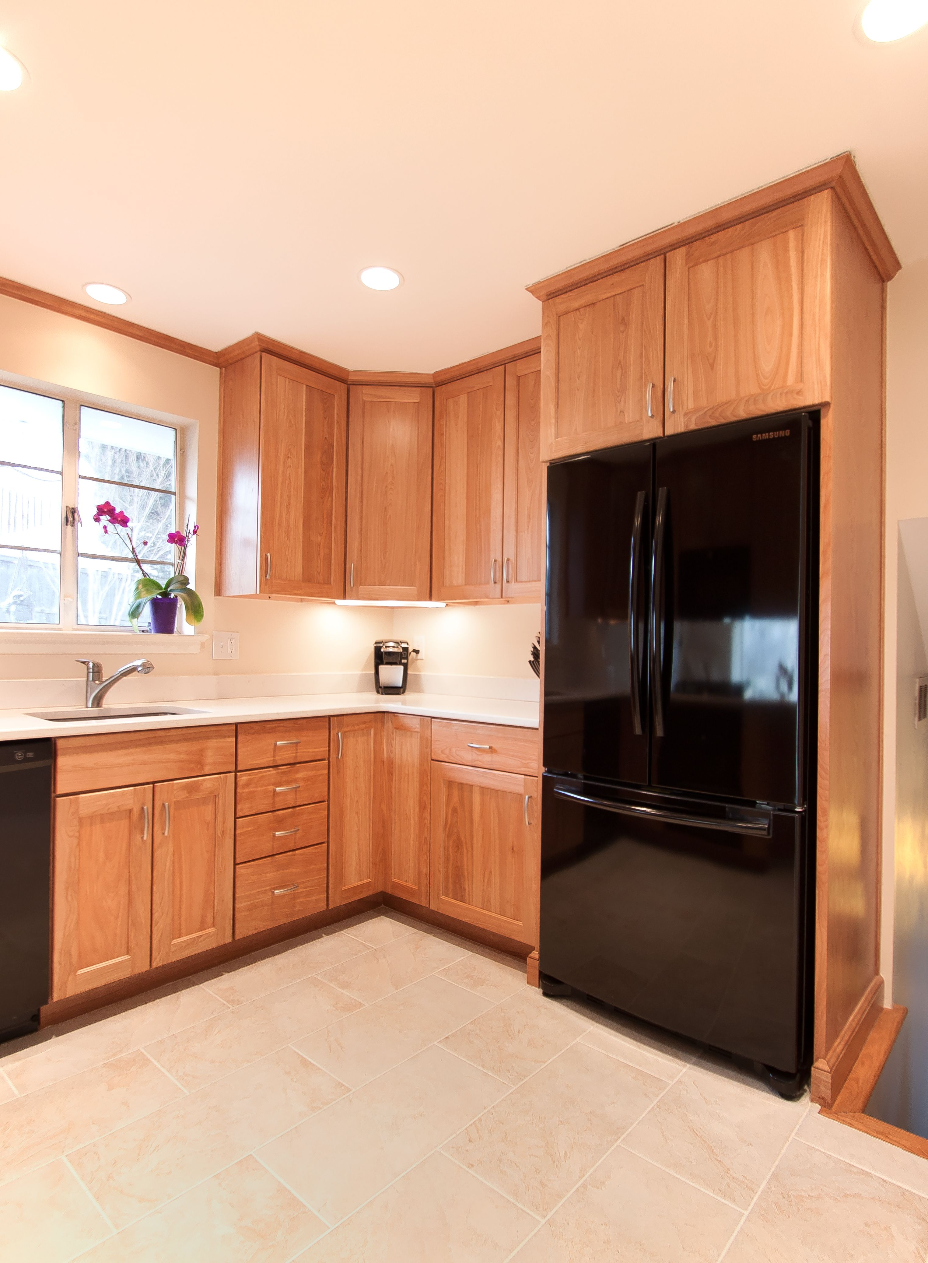 Custom Kitchen With Natural Red Birch Cabinets Kitchen Remodel Kitchen Remodeling Projects Kitchen Inspirations
