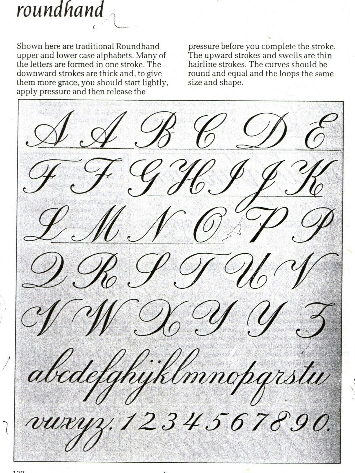 Calligrafia Old School Old School Script Taught In The 20th Century Apuntes
